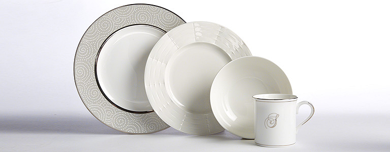 Another great match are the grey shades and geometric patterns on this dinner plate and bowl. For contrast we added a white salad plate with a textured ...  sc 1 st  Lenox & Mix and Match Dinnerware Online | Lenox | www.lenox.com