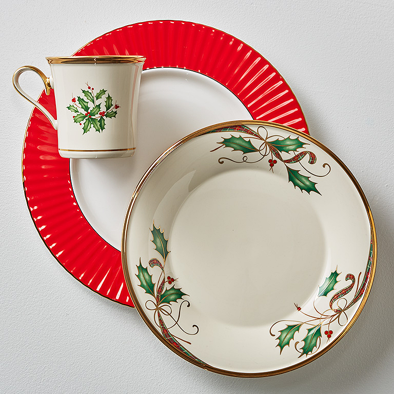 Our best selling Holiday™ dinnerware is so refreshed when matched with this dinner plate. The subtle holly ribbon and berry design absolutely pops against ...  sc 1 st  Lenox & Mix and Match Dinnerware Online | Lenox | www.lenox.com