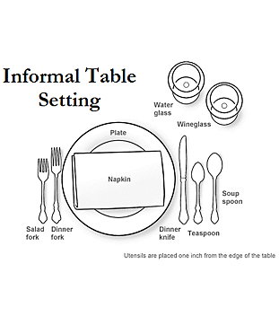 How To Set An Informal Table