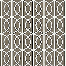 Modern Taupe Trellis Fabric Gate Brindle