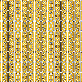 Modern Yellow Trellis Fabric Gate Citrine