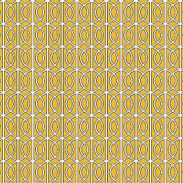 Modern Yellow Trellis Fabric Gate Citrine