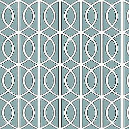 Modern Teal Trellis Fabric Gate Jade