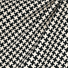 Black & White Houndstooth Fabric Great Scott! Black