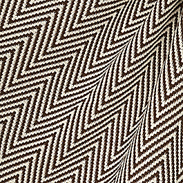 Knitted Brown Chevron Fabric Big Zig Brown