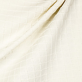 Cream Diamond Pintuck Fabric Pintucked In Ivory