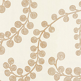 Swirl Print Gold Metallic Fabric Goldilocks Gilt
