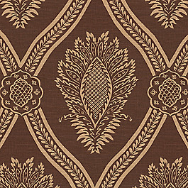 Brown Medallion Trellis Fabric Period Peace Aztec