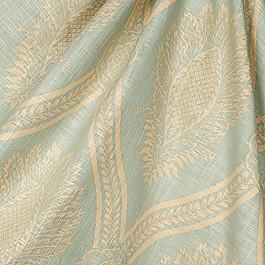 Aqua Medallion Trellis Fabric Period Peace Spa