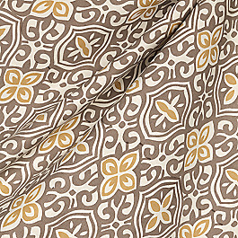 Tan & Gold Moroccan Mosaic Fabric Less Is Moorish Rattan