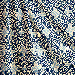 Blue Moroccan Mosaic Fabric Less Is Moorish Blueberry