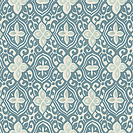 Aqua Moroccan Mosaic Fabric Less Is Moorish Harbor