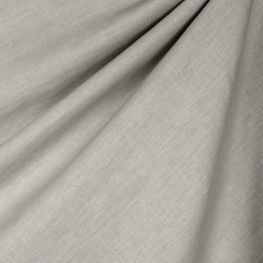 Soft Gray Linen Blend Fabric Breezy Linen Ash