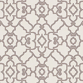 Gray Morrocan Trellis Fabric The Taj Storm