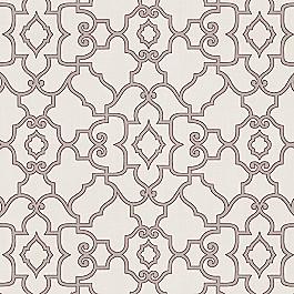 Gray Morrocan Trellis Fabric The Taj Storm