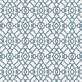 Scrolled Turqoise Trellis Fabric The Taj Aquatic