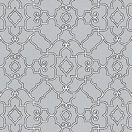 Cool Gray Trellis Fabric The Taj Pearl Gray