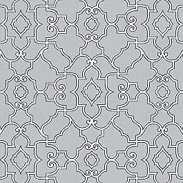 Cool Gray Trellis Fabric The Taj Pearl Gray