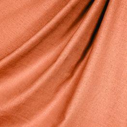 Solid Coral Linen Fabric Classic Pure Linen Persimmon