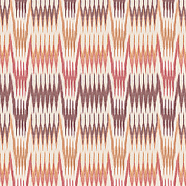 Orange & Pink Flame Stitch Fabric Ebb & Weave Cranberry
