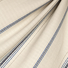 Blue Burlap-Style Stripe Fabric Burlap of Luxury Blueberry