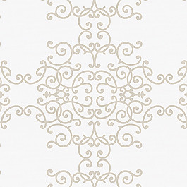 Light Tan & White Scroll Fabric Soft Scrolls Birch