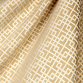 Beige Square Lattice Fabric Interlocken Moonstruck