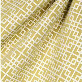 Green Square Lattice Fabric Interlocken Celery