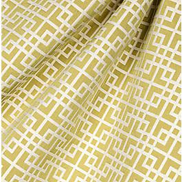 Green Square Lattice Fabric Interlocken Celery