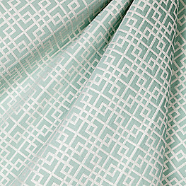 Aqua Square Lattice Fabric Interlocken Surf