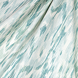 Aqua Blue Ikat Watercolor Fabric Mirage Surf
