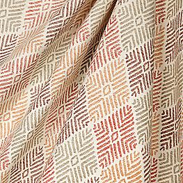 Block Print Orange Diamond Fabric Globetrotter Autumn