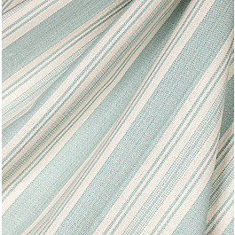 Hand-Woven Aqua Stripe Fabric Straight & Narrow Cloud