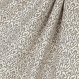 Gray Ogee Block Print Fabric Prints Charming Dune
