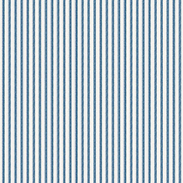 Blue Ticking Stripe Fabric Little White Line Blueberry