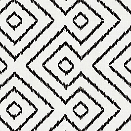 Maze Black & White Diamond Fabric Optrix Black