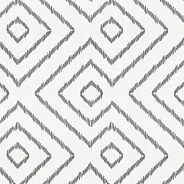 Maze White & Gray Diamond Fabric Optrix Ash