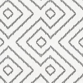 Maze White & Gray Diamond Fabric Optrix Ash