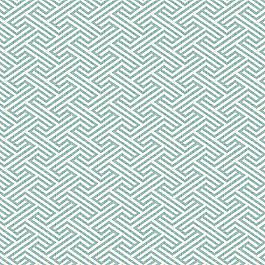 Maze Print Aqua Geometric Fabric Labyrinth Surf