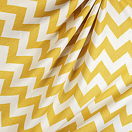 Bright Yellow Chevron Fabric Limitless Squash