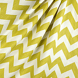 Lime Green Chevron Fabric Limitless Linden