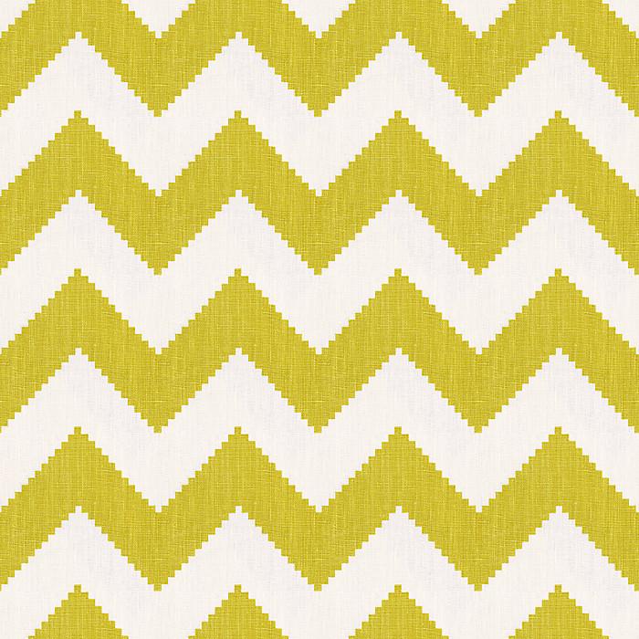 Lime Green & Yellow Abstract Fabric | Tobi Fairley La Petit Roche ...