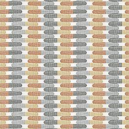 Gray & Orange Mod Geometric  Fabric Time Capsule Greystone