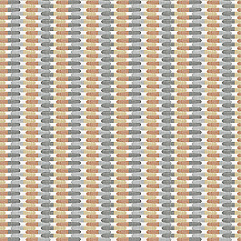 Gray & Orange Mod Geometric  Fabric Time Capsule Greystone