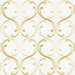 Pale Gold Embroidered Chain Fabric Whirlwind Romance Tinsel