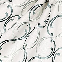Aqua Blue Embroidered Chain Fabric Whirlwind Romance Smoke Blue