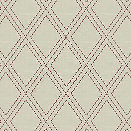 Embroidered Red Diamond Fabric Diamonds Are Forever Crimson