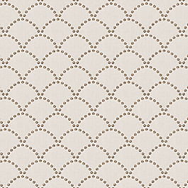 Embroidered Taupe Scallop Fabric Deco Darling Dune