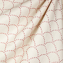 Embroidered Pink Scallop Fabric Deco Darling Blossom