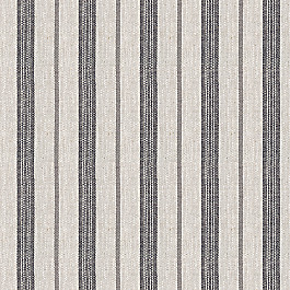 Dark Gray Striped Linen Fabric Farm to Table Ash
